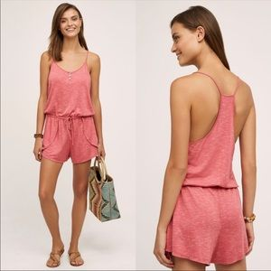 Anthropologie Saturday Sunday Pink Strappy Romper
